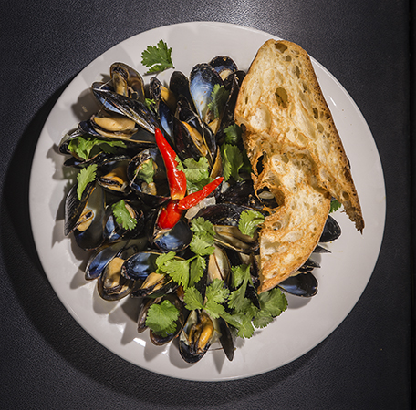 Goin' Coastal: Thai Coconut Curry Mussels
