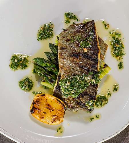 Queenies: Seasoned Trout with Gremolata and Grilled Asparagus