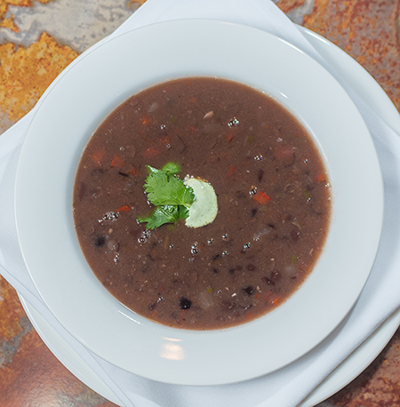 Taste of Life: Black Bean Soup with Jalapeno Cream