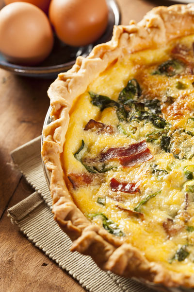 Taste of Life: Quiche with Spinach & Bacon